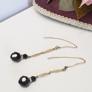 Jewelry - Gorgeous Unique Black Crystal Earrings